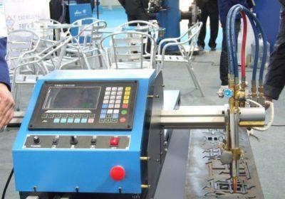 Tipo pórtico máquina de corte conduzida dobro do pórtico do plasma da chama do CNC em vendas